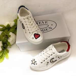 Steve Madden Bette white sneakers